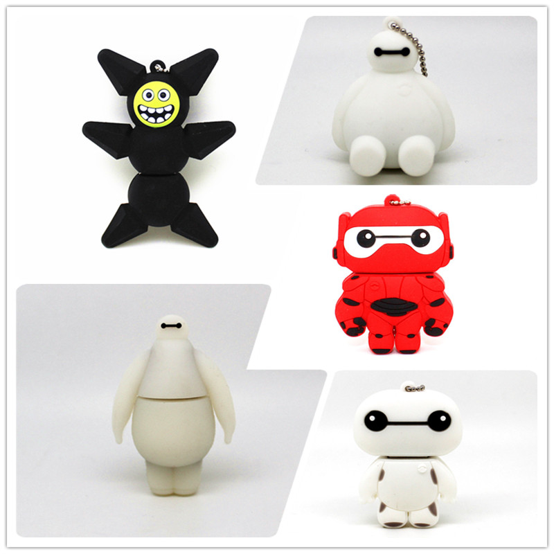 Cartoon Baymax USB Flash Drive 4GB 8GB 16GB 32GB 64GB Big Hero 6 Memory Stick Pen Drive Cute Pendrive Gift U Disk