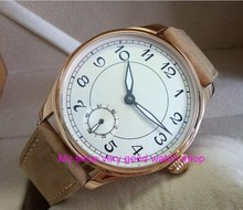 44mm PARNIS white dial Asian 6498/3621 Mechanical Hand Wind movement men's watch Mechanical watches RNM9