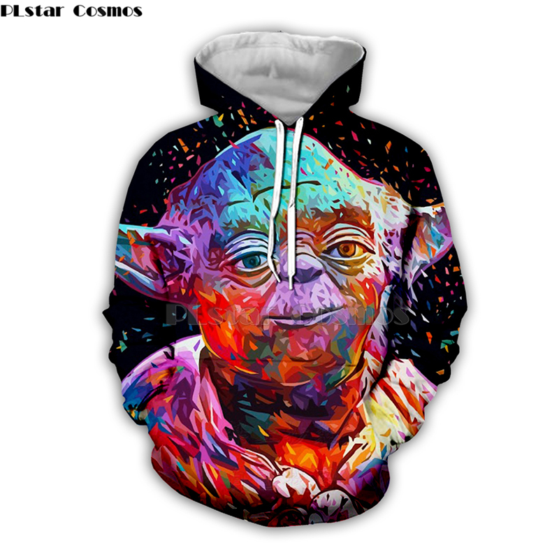 Colorful Star Wars Yoda  By Alessandro Artist 3D Print Hoodies/Sweatshirt/zipper Men Women Newest Streetwear