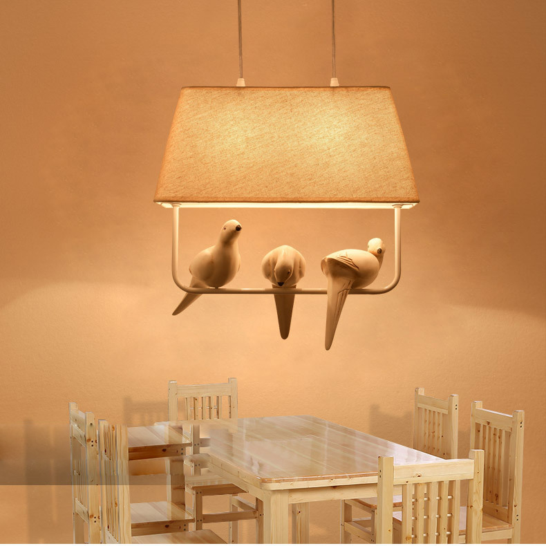 Modern Art LED Pendant lamp Creative bird pendant lighting fixture Simple Style Bird Pendant Lights for Dining Room
