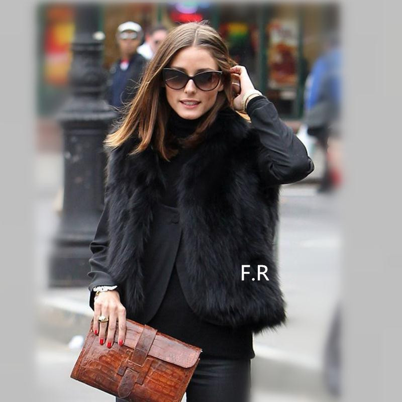 Popular Black Faux Fur Gilet-Buy Cheap Black Faux Fur Gilet lots ...