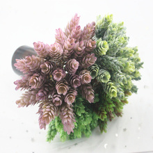 5 head / 1PCS plastic simulation plant pineapple grass decoration home wedding gift box accessories