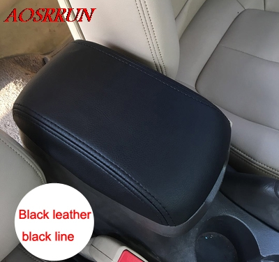 PU leather Car Armrest font b Box b font Cover Car Accessories fit For hyundai Elantra