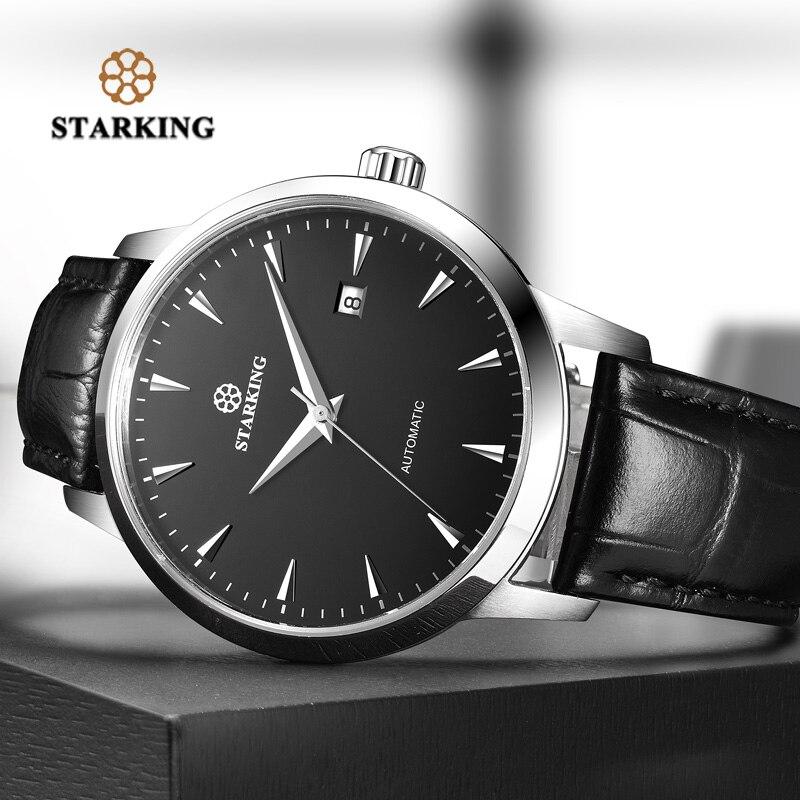 Старкинг мужские часы Автоматические сапфир часы все нержавеющая сталь простой деловые мужские часы xfcs Элитный бренд платье наручные