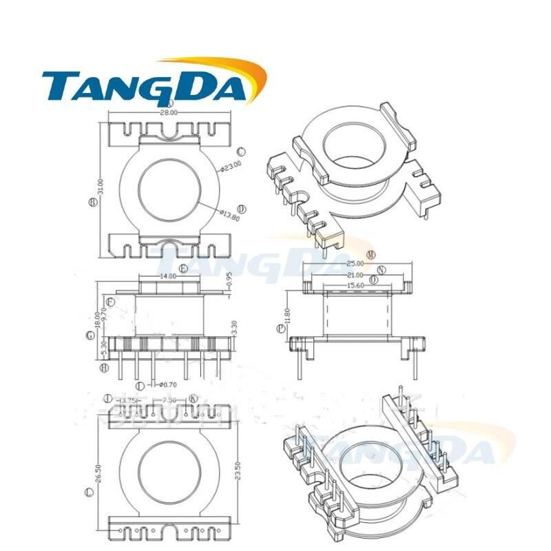 Tangda POT POT3019 typ 6 + 6 pin 12 P magnetyczny rdzeń szpulki + szkielet ferryty obudowa transformatora mocy PC40 wysokiej częstotliwości. w Induktory od Majsterkowanie na AliExpress - 11.11_Double 11Singles' Day 1