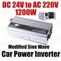 Автомобильный модифицированный синусоидальный трансформатор напряжения 1200 Вт лодка для грузовика USB DC 24V к AC 220V Преобразователь мощности з...