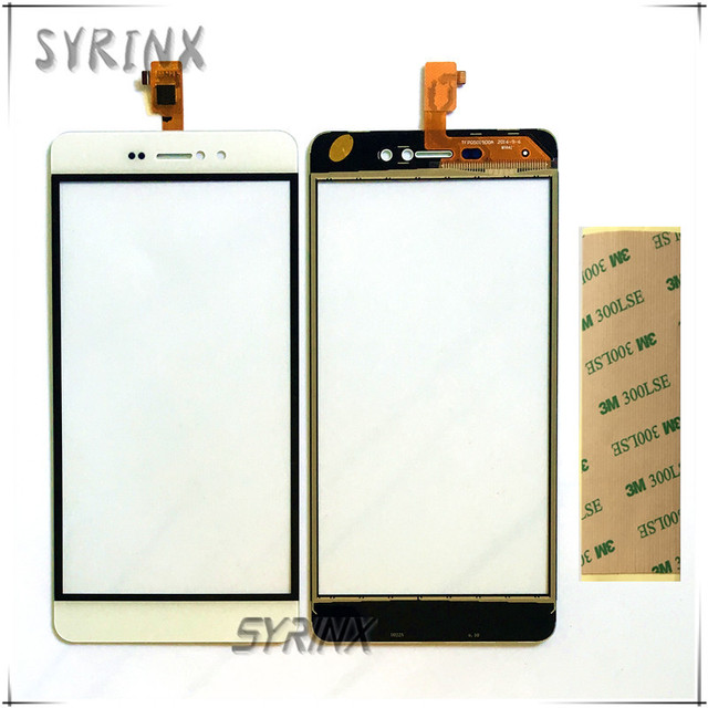 Syrinx + Tape Touch Screen Sensor Digitizer For BluBoo Picasso Front Glass Lens External Touch Panel Touchscreen Free Shipping
