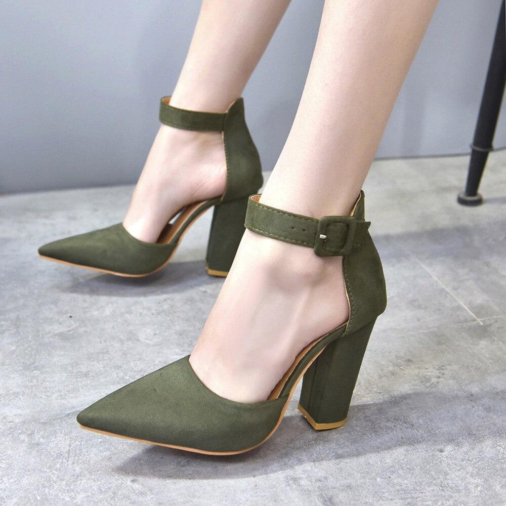 Cuña Cristal Youyedian Negro Zapatos De Mujer rojo verde Alto Tacón OSI4P