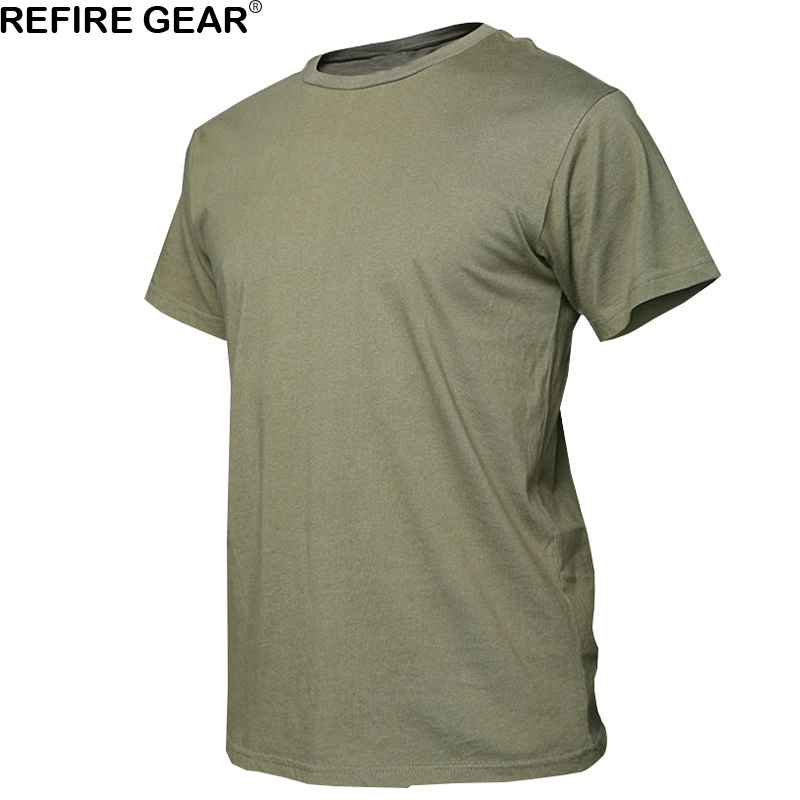 Outdoor Summer Camouflage Cotton T-shirt Men Quick Dry O Neck Camo Tees, Breathable Short Sleeve Camping Hiking Hunting T Shirt