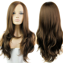 Cheap Wigs For Black Women Harley Quinn Wig Long Wavy Brown Sentetik Peruk Akatsuki Yona Wigs Wig Turquoise Hair Dreadlock Hair