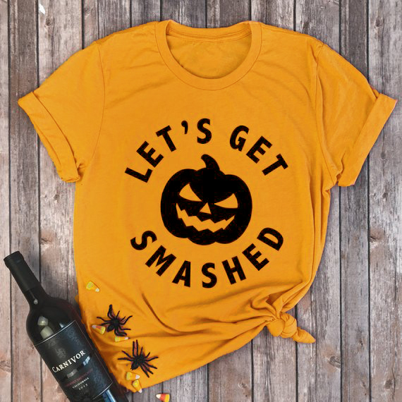 Lets Get Smashed T-shirt Pumpkin funny Day Drinking Tee Bachelorette Party women vintage cute graphic grunge tumblr tops tshirts