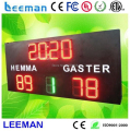 Leeman digital number LED basketball hockey rink area cricket scoreboard display board digital scoreboards with shot clock