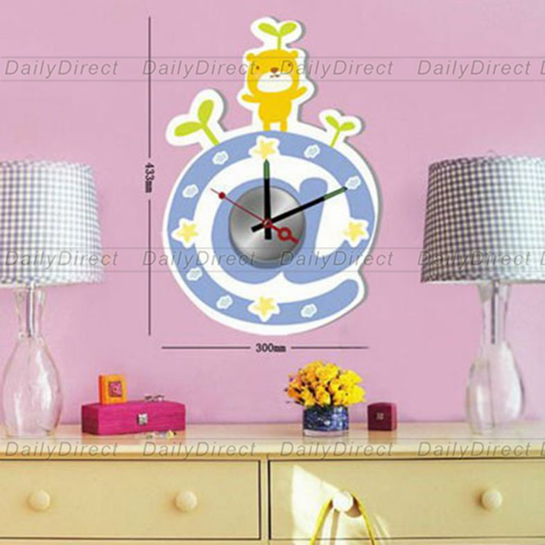 1x large cool vinyl stickers wall clock removable for Clock wall mural