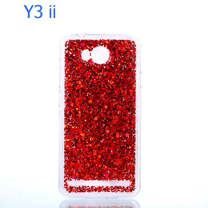 Glitter Bling Cover For Huawei y3 ii case carcasa Candy Colorful Shining For  Huawei y5 ii funda