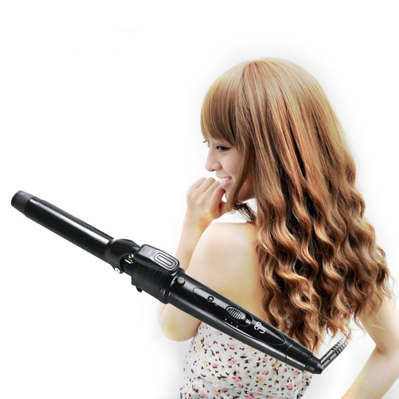 JUNEJOUR 3 in 1 Professional Interchangeable Hair Curling Iron Roller Wand Set with Hair Curler Hot Brush Hair Straightner Brush