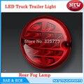 Emark12V/24 V Rodada 95mm Luzes Do Reboque Do Caminhão LEVOU Cauda Parada Turno Carro Luz traseira Levou Luz de Nevoeiro lâmpada de Automóvel de Segurança Rodoviária ECE DOT