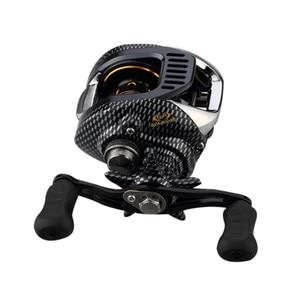 Image 2 - 6.3:1 Baitcast moulinet de pêche 13 portant grande ligne capacité léger gaucher droitier appât coulée pêche roue outil