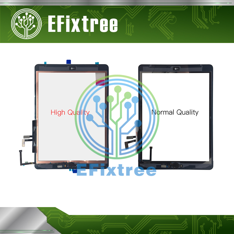 New 2017 Year Black White A1822 A1823 Touch Screen For iPad 5 5th Generation Digitizer Outer LCD Panel Front Glass With Sticker недорго, оригинальная цена