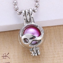 6pcs Silver Plated Pearl Cage (China)