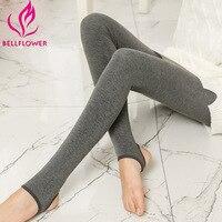 Warm Leggings For Women Milk Cotton Slim Leggings Single Cashmere Foot Wear Elastic Pants Female Winter
