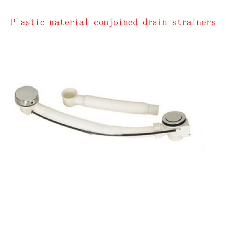 Plastic conjoined bathroom bathtub drain strainers+white hose ...