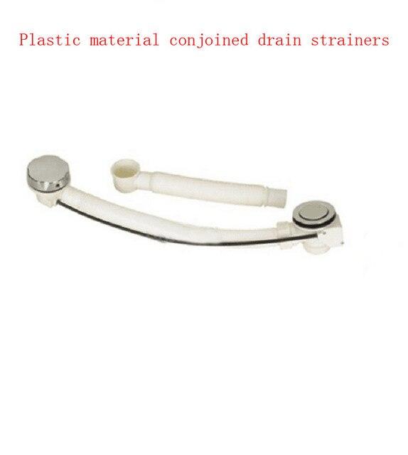 Plastic conjoined bathroom bathtub drain strainers+white hose ...