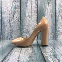 0e46c6fb Kmeioo 2019 Размеры США 5–15 модные женские туфли на высоком блочном  каблуке суды обувь