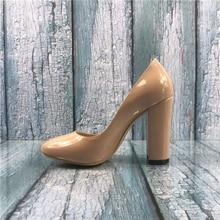 Kmeioo US Size 5-15 Fashion Women High Block Heel Courts Shoes
