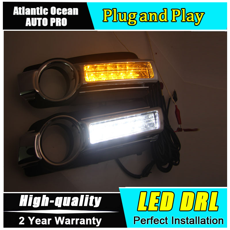 JGRT car styling For Mitsubishi Pajero LED DRL For  Pajero led fog lamps daytime running light High brightness guide LED DRL