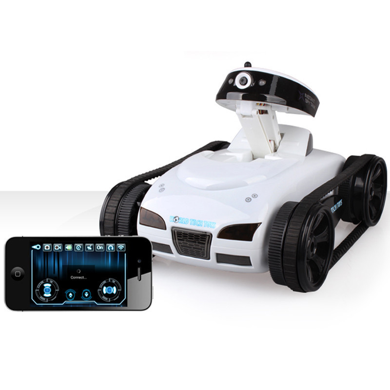 JJRC 777-27 Remote Control Mini WiFi RC Robot Car Camera Real-time Tank Kids Toy For Iphone IOS For Android Smart Phone Gifts wifi mini rc camera tank car ispy with video 0 3mp camera 777 270 remote control robot with 4ch suppots by iphone android app