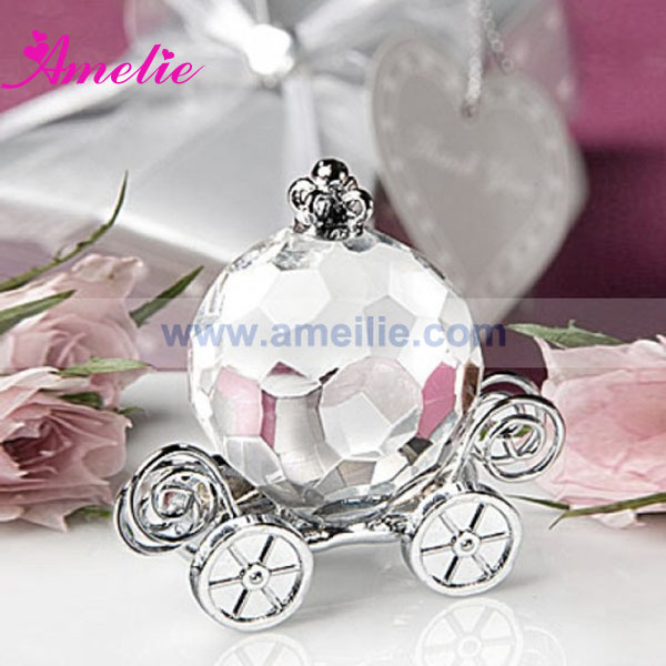10piecelot with free shipping wedding gifts for guests crystal cinderella pumpkin coach favors crystal