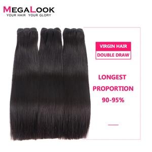 Megalook العذراء الماليزية الشعر شعر طبيعي مفرود حزم ضعف الانتباه 100 جرام/قطع غير المجهزة الطبيعي الأسود و نسج الشعر المجعد