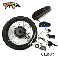 Snow Bike Rear Drive 24 26 4.0 Fat 48v 1500w Bicicleta Electrica Motor Electric Fat With Battery Bike Conversion Kit 4.0 Tyre
