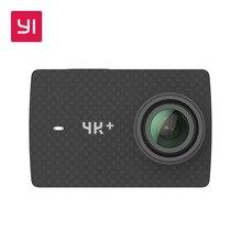 YI 4 K + (Plus) Ação Da Câmera 4 K/60fps Suporte Streaming Ao Vivo EIS Controle de Voz Internacional edição Preto