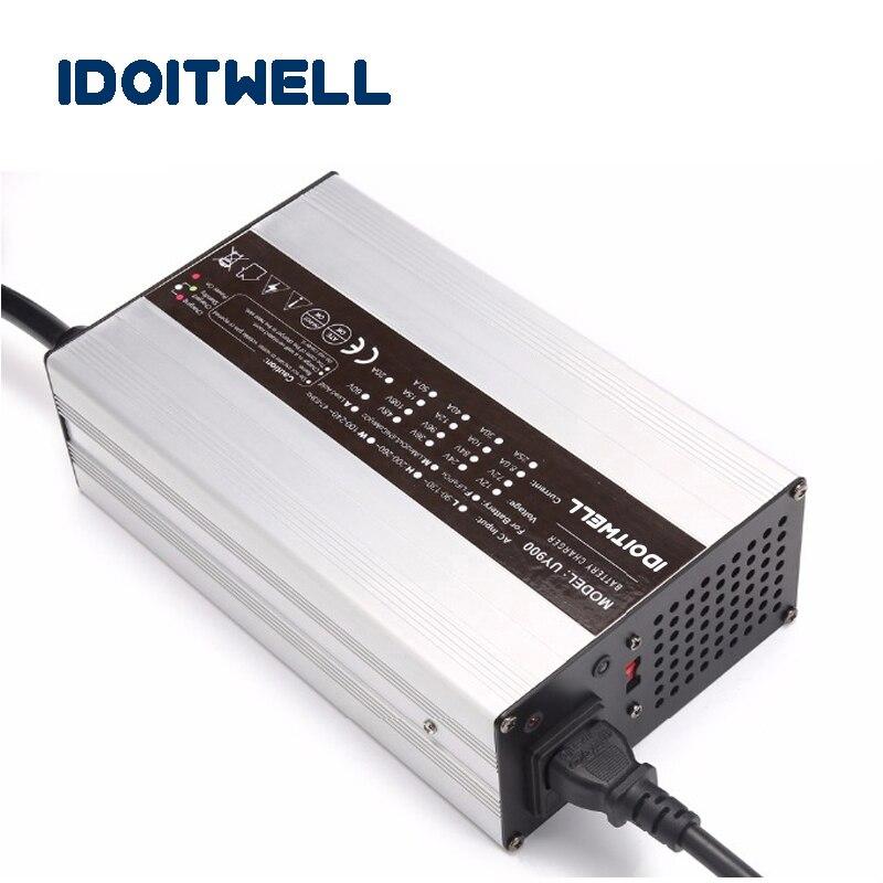 Chargeur de batterie adapté aux besoins du client de la série 900W 12V 40A 24V 25A 36V 18A 48V 15A pour la batterie au Lithium-ion d'acide de plomb ou la batterie LifePO4