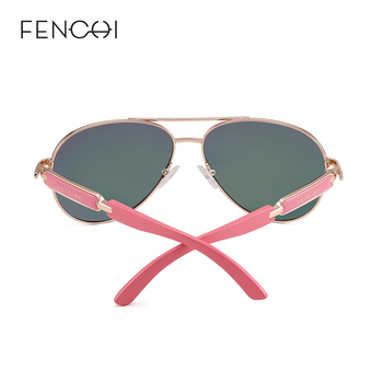 FENCHI Pink Polarized Mirror Glasses  1