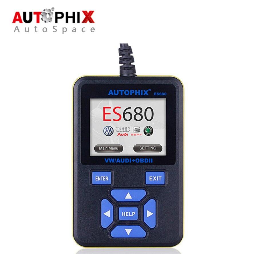 Prix pour Autophix E-SCAN ES680 VAG RPO + OBD Scanner Auto Diagnostic Outil D'analyse OBD2 OBDII Lecteur de Code Meilleur pour Volkswagen Voiture détecteur
