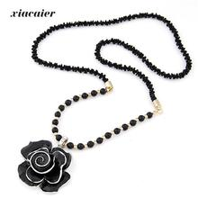 xiacaier Vintage Jewelry Flower Beads Choker Necklaces & Pendants For Women Necklace Colar Feminino Collier Style