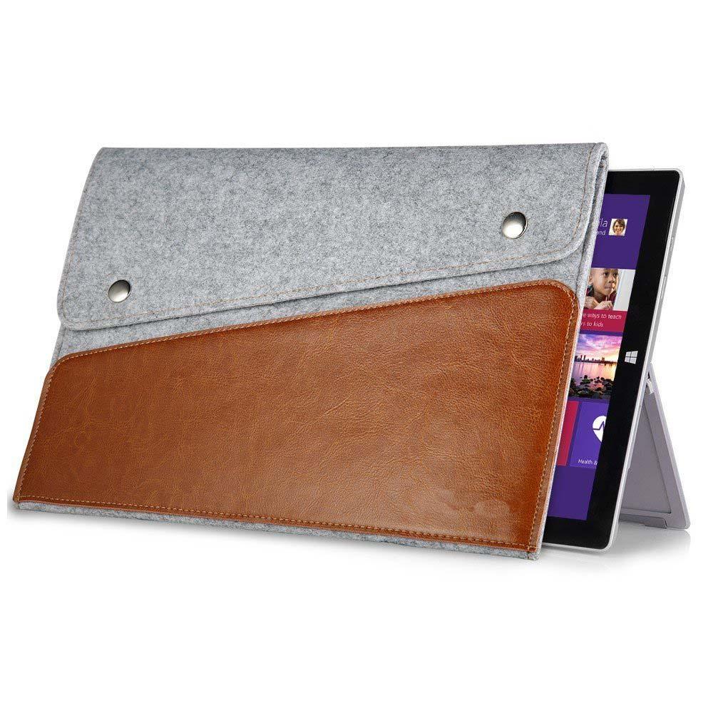 Funda de piel genuina cubierta para microsoft surface pro1 2 3 4 12 - Accesorios para tablets - foto 2