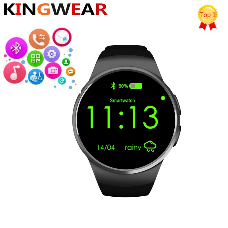 KW18 Smart watch Android / IOS Smart watch with sim card Bluetooth phone Heart rate monAitors SmartWatch support 32GB TF card цена
