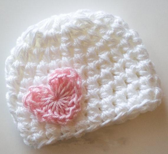 "wholesale 10pcs/lot Crochet Baby Girl Valentine Heart Hat Newborn Photography Prop preemie 14"""