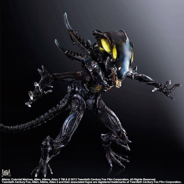 Play Arts Kai PA Alien Figure Xenomorph PA 26cm PVC Action Figure Doll Toys Kids Gift Brinquedos