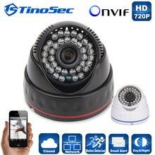 H.264 2.8/3.6mm de ancho lente de la Cámara Domo IP P2P Onvif Cámara IP 720 P HD CCTV 1.0Mp Cámara Versión de La Noche Cámara de Red IP de Interior