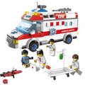 Assemble Building Blocks 328pcs Toys Ambulance City Series Bricks Truck 1118 DIY 328pcs Toys Kid Christmas Gift #EB