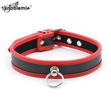 PU Leather Fetish Slave BDSM Bondage Neck Collar Metal Leash Chain Sex Toys For Woman Restraints Toy Adults Erotic Accessories gay leather collar bdsm sexy leash ring chain slave bondage erotic toys role play erotic fetish collar sex toys for couples sexo