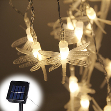 Solar Power Fairy String Lights 5M 30 LED Dragonfly/Butterfly/Dandelion Decorative Garden Patio Christmas Trees Wedding Party