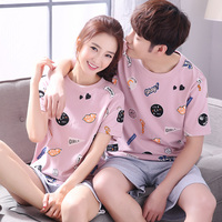 pajamas summer short sleeved cotton thin section of the Korean version of the cartoon cute summer pajamas suits