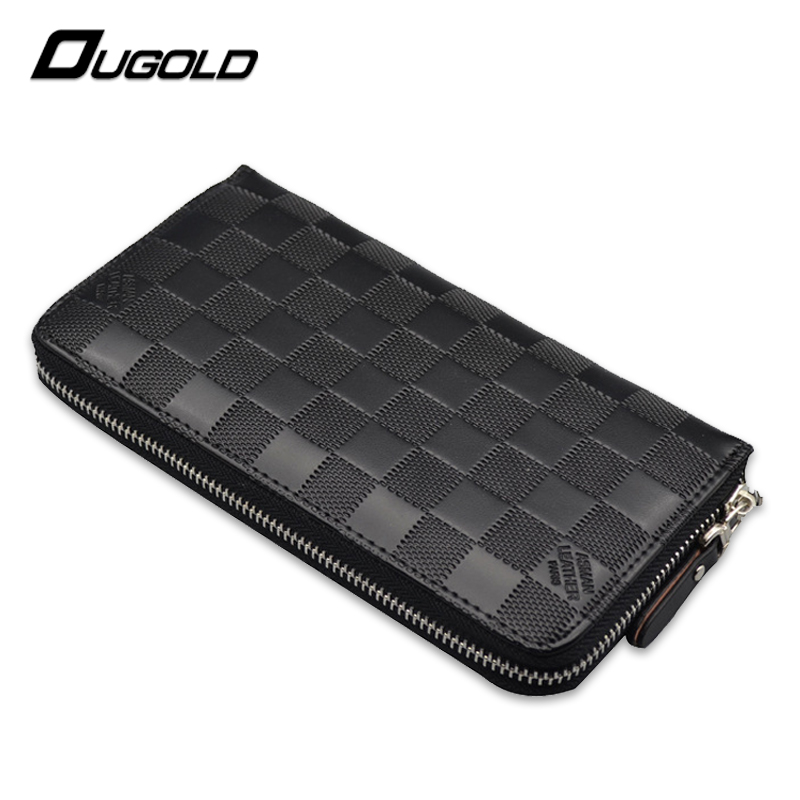 Men Wallet Brand Leather High Quality Stone Long Purses Phone Pocket Coin Purses Holders Zipper Male