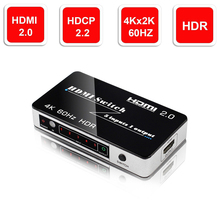 5 Port 18Gbps HDR 4K HDMI Switch 5×1 Support HDCP 2.2 Mini HDMI 2.0 Switcher HUB Box With Auto & IR Remote Control For Apple TV