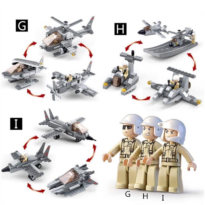 1001 قطع البحر الهواء ولاند العسكرية فيلق Compatibie Legoings اللبنات مجموعة ألعاب Diy تربية الأطفال هدايا عيد الميلاد-في مجموعات البناء النموذجي من الألعاب والهوايات على  مجموعة 3
